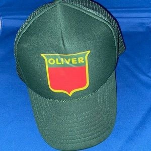 Vintage GUC Oliver Mesh Trucker Hat Tractors Farm